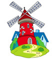 cartoon mill vector image