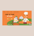 chef cook character woman or man cooking vector image vector image