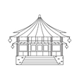 Chinese Buddhist Temple Monastery Building vector image vector image