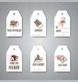 chocolate cacao sketch banners design menu vector image
