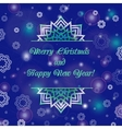 Christmas and New Year ornate cards with holiday vector image