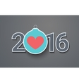 Christmas ball New Years Eve heart vector image vector image