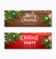 christmas party and greeting card with holiday vector image