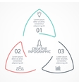circle arrows linear triangle infographic vector image vector image