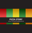 circle pattern set pizza story seamless vector image vector image