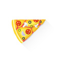 color fast food piece of pizza icon vector image