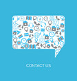 contact us support help vector image vector image