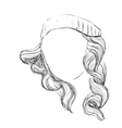 Curly fashion woman vector image vector image