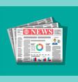 daily newspaper in color vector image