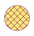 disposable template round fruit vector image