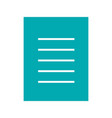 document glyph color icon vector image