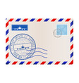 envelope international correspondance mail vector image vector image