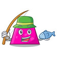 fishing trapezoid mascot cartoon style vector image vector image