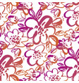 floral color seamless pattern vector image