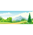 Forest banner vector image