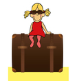 funny girl is going to traveling vector image vector image