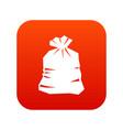 garbage bag icon digital red vector image vector image