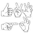 Gesture set vector image vector image