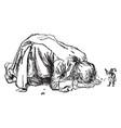 giant kneeling down vintage vector image vector image