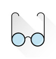 glasses icon flat style on white background vector image vector image