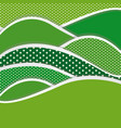 green mountains of different sizes icon vector image