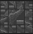 grey contours topography geographic vector image vector image