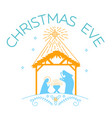 happy christmas eve logo vector image