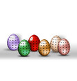 happy easter eggs with different texture on a vector image vector image
