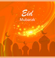 happy eid mubarak islamic design on starry sky vector image