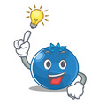 have an idea blueberry character cartoon style vector image vector image