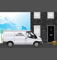 home deliveries courier vector image vector image