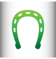 Horseshoe sign Green gradient icon vector image vector image