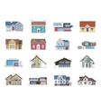 House Icons Flat vector image vector image
