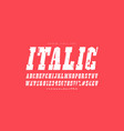 italic slab serif font in western style vector image vector image