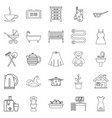 large room icons set outline style vector image vector image