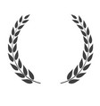 laurel wreath shape isolated on white background vector image vector image