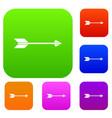 long arrow set collection vector image vector image