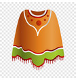 mexican poncho icon cartoon style vector image