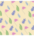 natural cute colors flowers background vector image