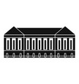 old building icon simple style vector image