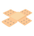patch icon isometric style vector image vector image