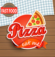 Pizza Label and Sign vector image