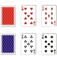 Playing card set 06 vector image vector image