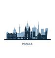 prague skyline monochrome silhouette vector image vector image