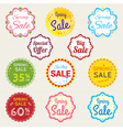 Promotion Set of spring promotion discount sale vector image