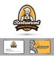 restaurant logo cafe diner or bistro icon vector image vector image