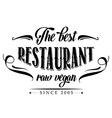 retro raw vegan restaurant poster vector image