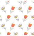 retro stylized flowers on white background vector image vector image