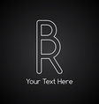 rr initial letter logotype vector image vector image