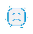 sad emoji icon design vector image vector image